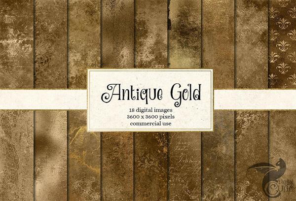 Gold Textures Digital Paper