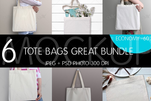 Great Tote Bags Bundle Design Templates