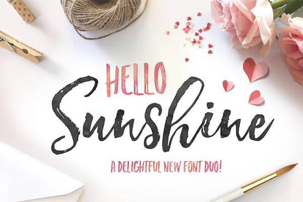 Hello Sunshine Font for Logo