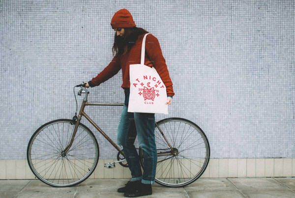 Hipster Tote Bag Mockup
