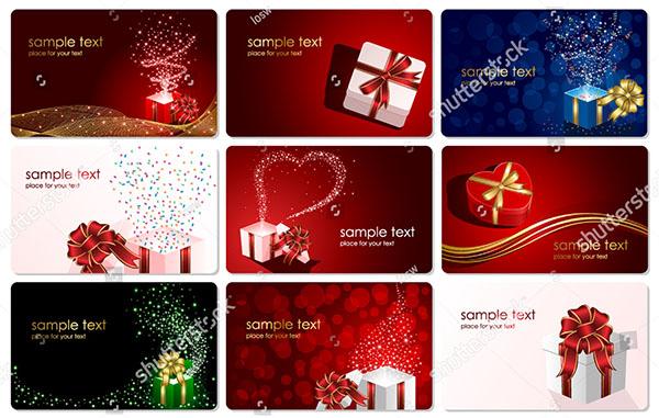 Holiday Vector Christmas Gift Card Design