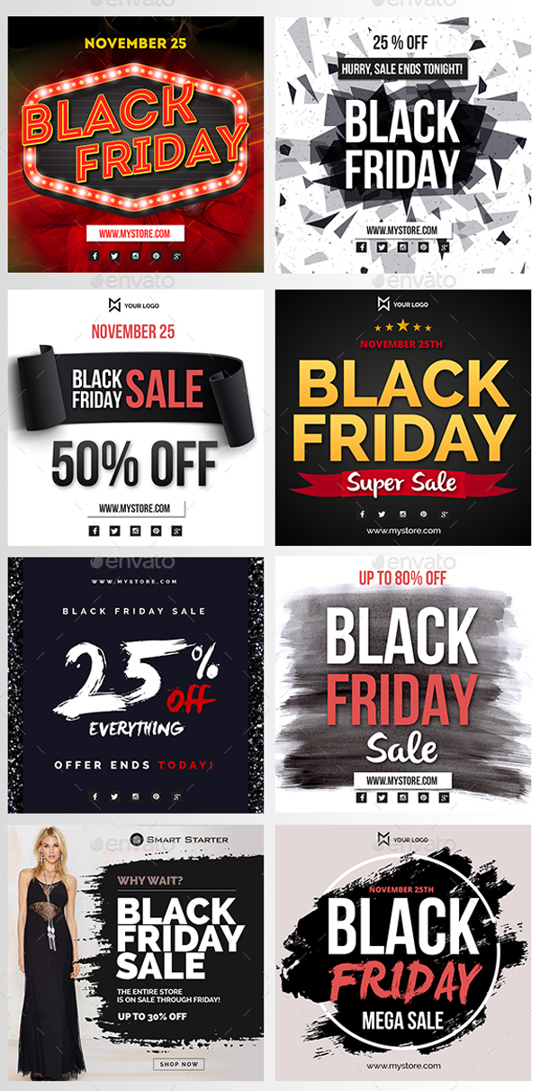 Instagram Black Friday Banner Templates