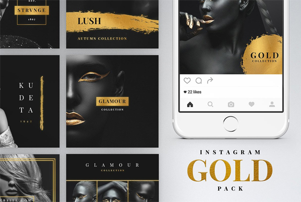 Instagram Gold Pack Banners