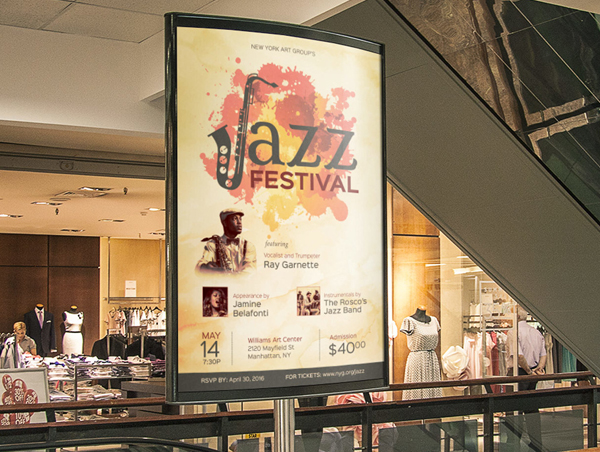 Jazz Event Flyer & Poster Template