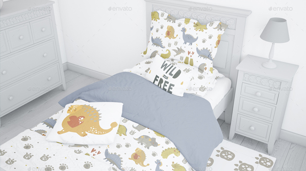 Kids Bedding Mockup Set