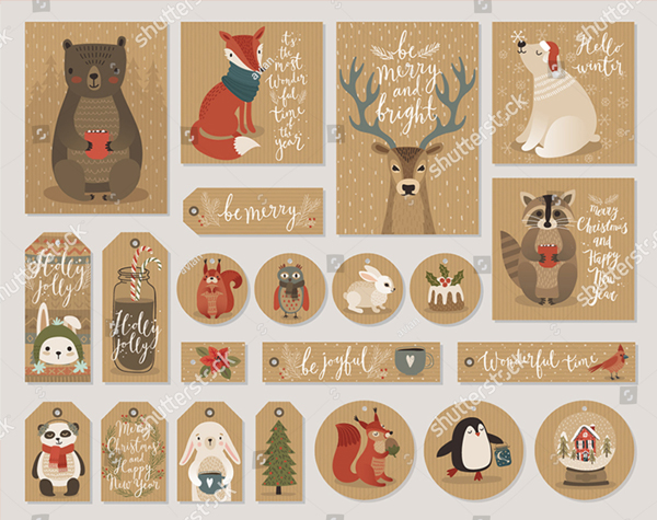 Kraft Paper Christmas Cards and Gift Tags