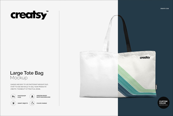 Large Tote Bag Mockup Set