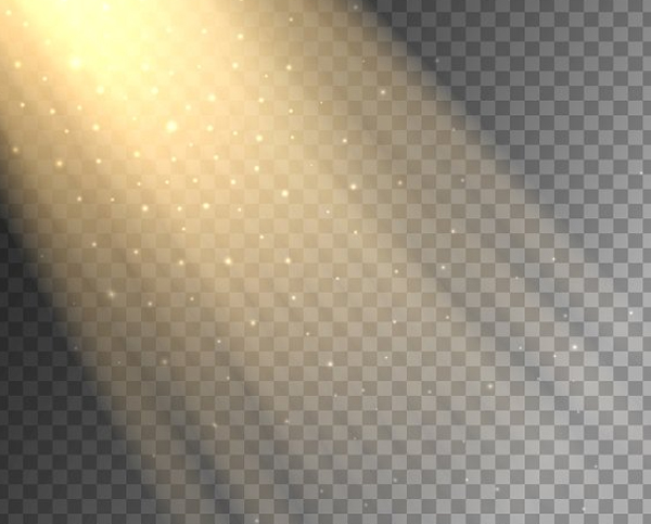 Light Ray on Transparent Background