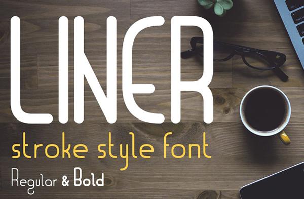 Liner Font for Logos