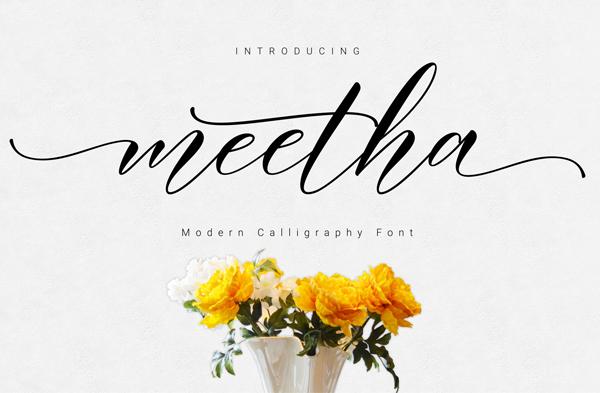 Meetha Script Font