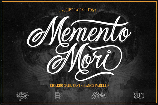 Memento Mori Tattoo Font