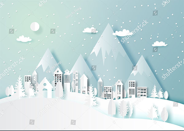 Merry Christmas Snow and winter Abstract Background