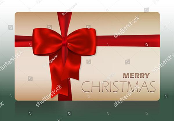 Merry Christmas Vector Gift Card Design Template