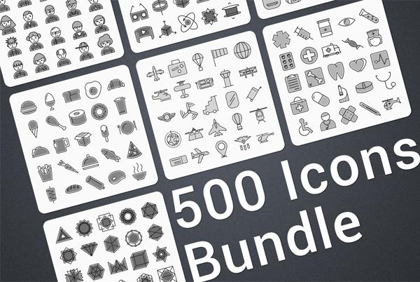 High Quality Modern Icons Bundle