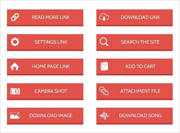 Modern Web Buttons Set