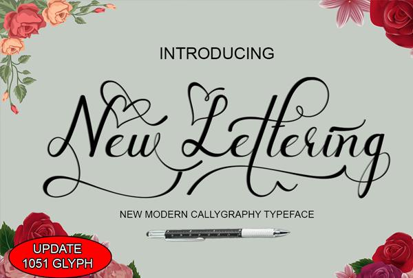 Tattoo New Lettering Fonts