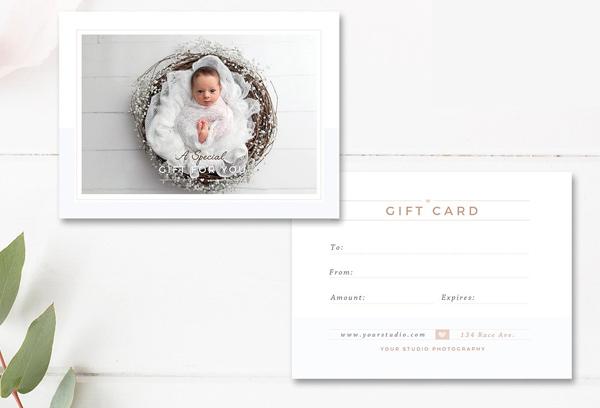 Newborn Photographer Graduation Gift Card