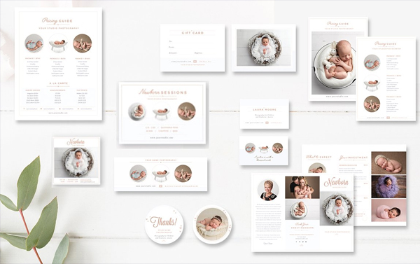 Newborn Photographer Marketing Business Card