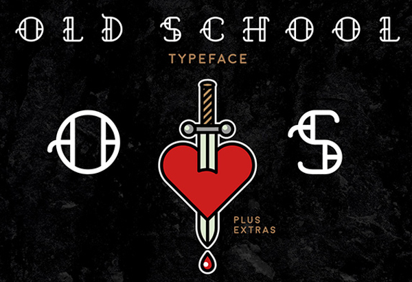 Old School Tattoo Font