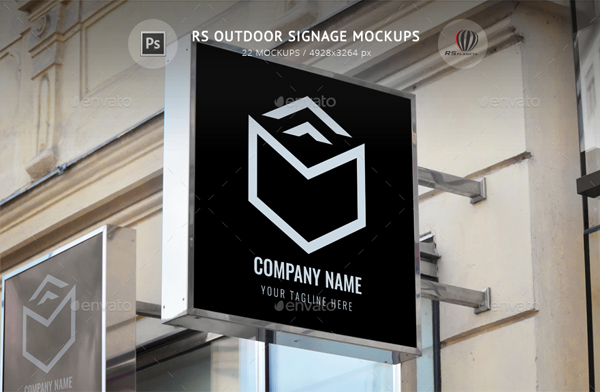 Outdoor Signage Mockups