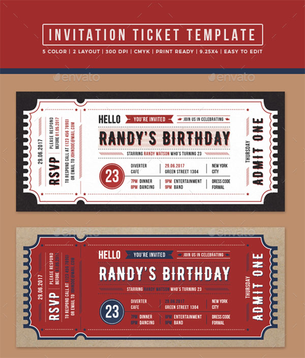 PSD Carnival Invitation Ticket