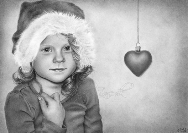 Baby HeartChristmas Pencil Drawings