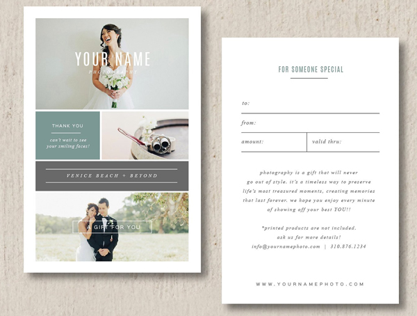 Photography Graduation Gift Card Template