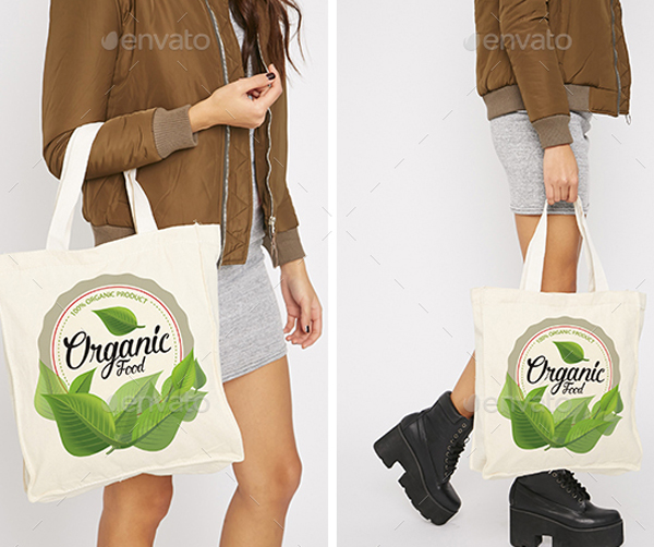 Photorealistic Tote Bag Mockup
