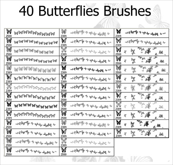 Photoshop Butterflies Brushes