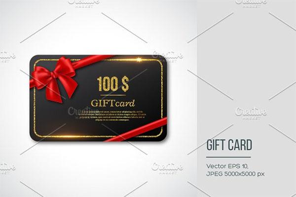 Photoshop Gift Card design
