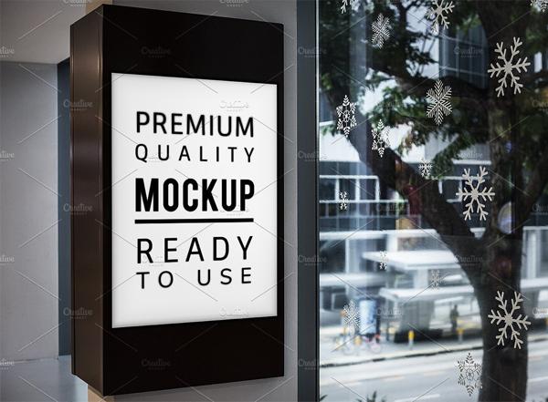 27 Digital Signage Mockups Free Premium Psd Vector Eps Downloads