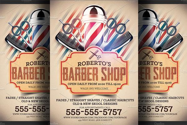 Printable Barber Shop Flyer Template