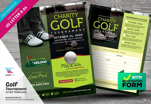 Printable Golf Tournament Flyer Template