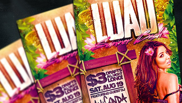 29 printable luau party flyer templates free psd ai vector downloads