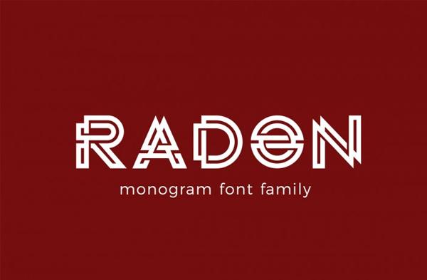Radon Monogram Logo Font