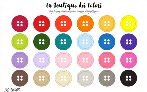 Rainbow Buttons Clip Art