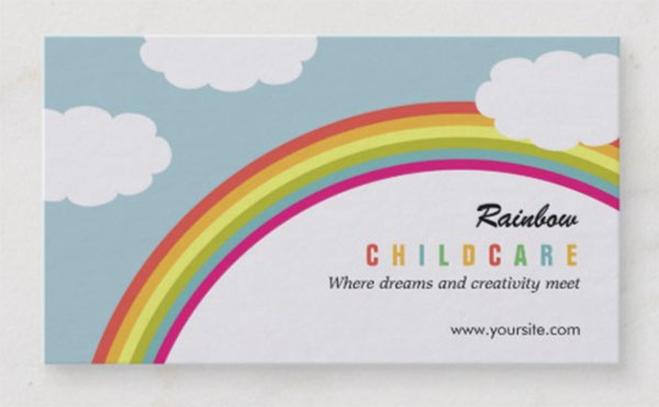 Rainbow Childcare and Day Care Business Card