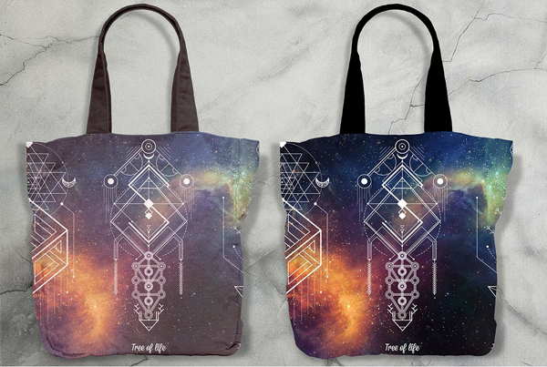 Realistic Canvas Tote Bag Mockup