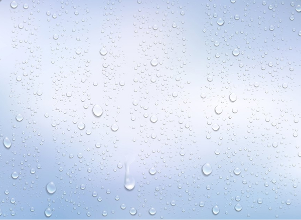 Realistic Water Droplets Background