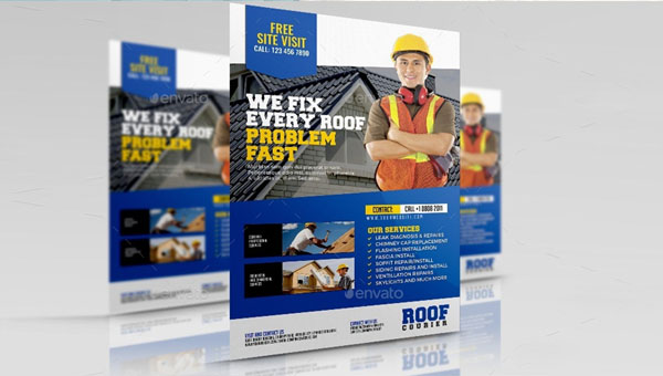 Roofing Flyer Design Templates