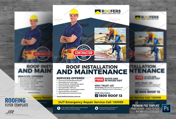 Roofing Installation and Repair Flyer