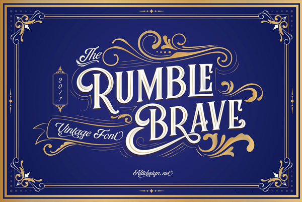 Rumble Brave Tattoo Lettering Fonts