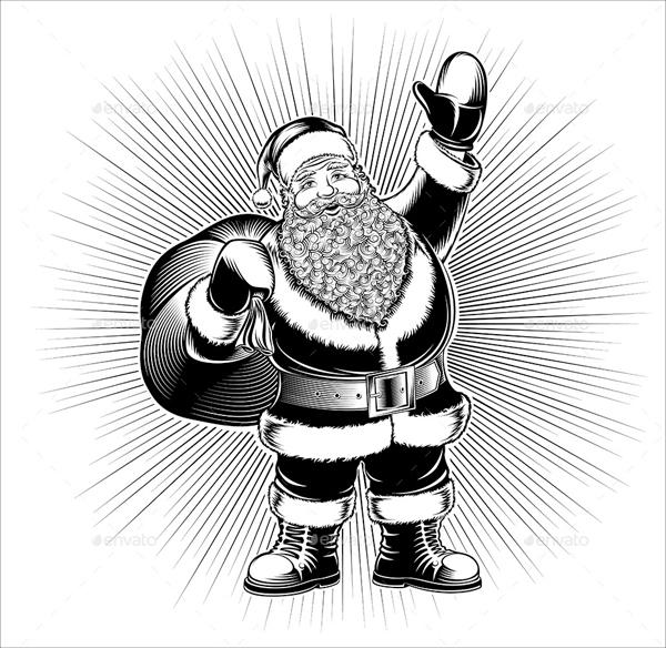 Santa Pencil Drawing