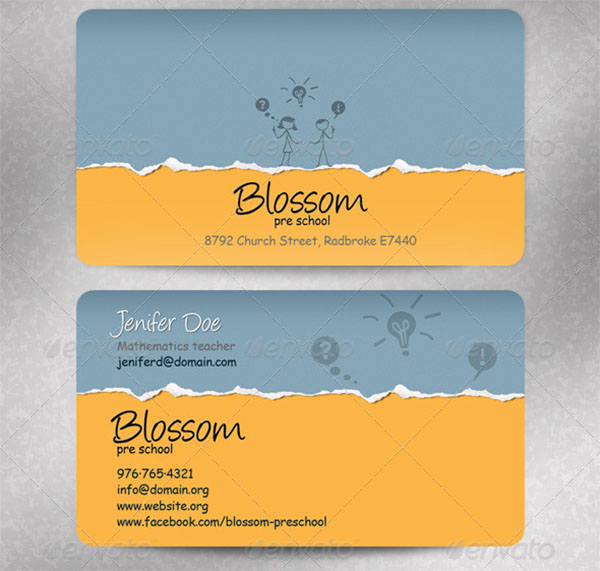 33 Daycare Business Card Templates Free Premium Psd Downloads