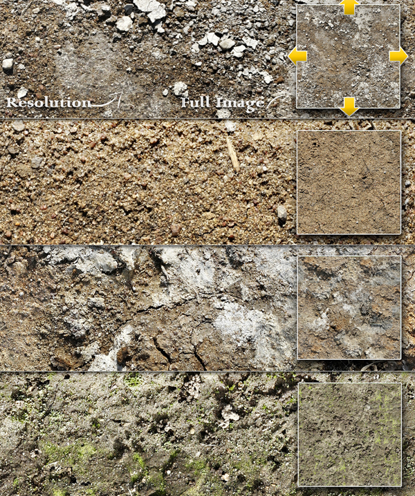 Seamless Dirt and Soil Textures