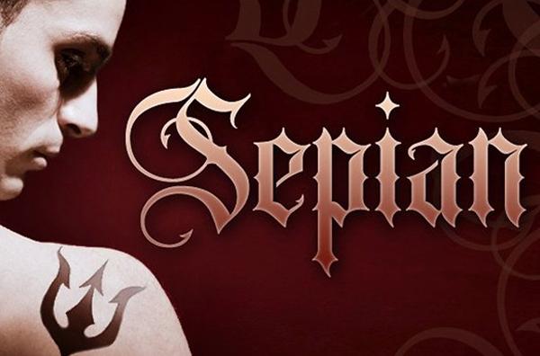 Tattoo Sepian Lettering Fonts