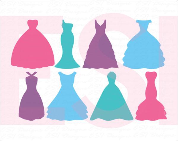 Silhouette Wedding Dress Designs