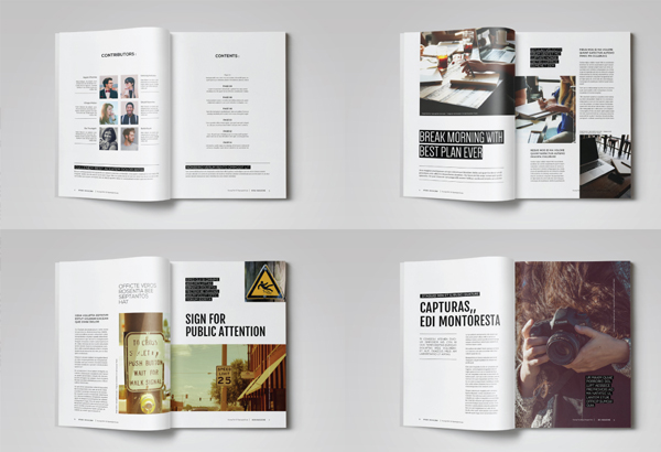36 Simple Magazine Templates Free Premium Psd Indesign Download