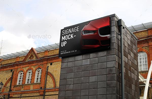 Smart Signage Mockup PSD Template