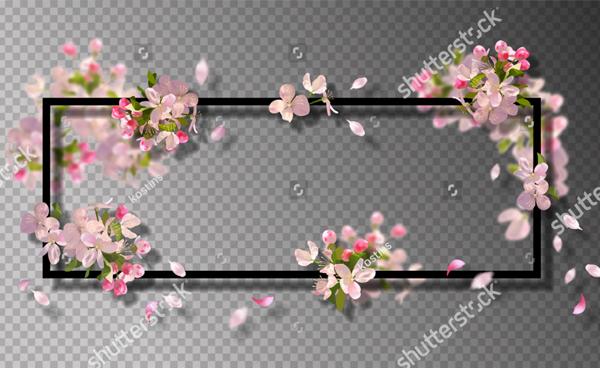 Spring Flowers on Transparent Background
